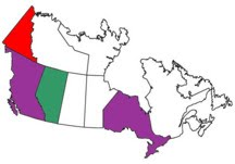 Canadian Provinces either of us have been in