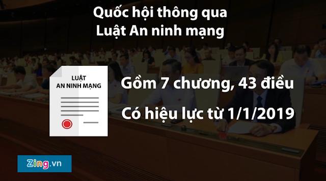 """6 nhóm hành vi cấm với người dùng Internet trong """"Luật An Ninh Mạng"""""""