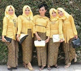 Model baju batik pasangan remaja untuk pesta pernikahan
