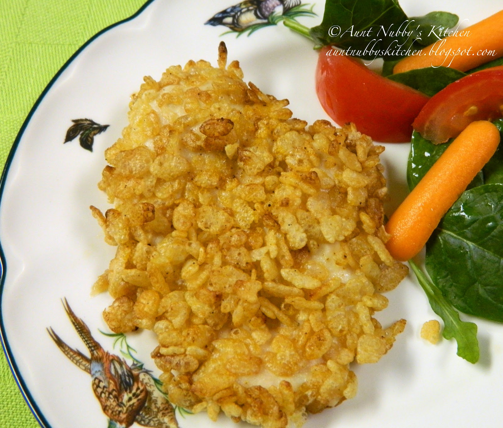 Sugar Spice And Spilled Milk: Baked Rice Krispie Chicken