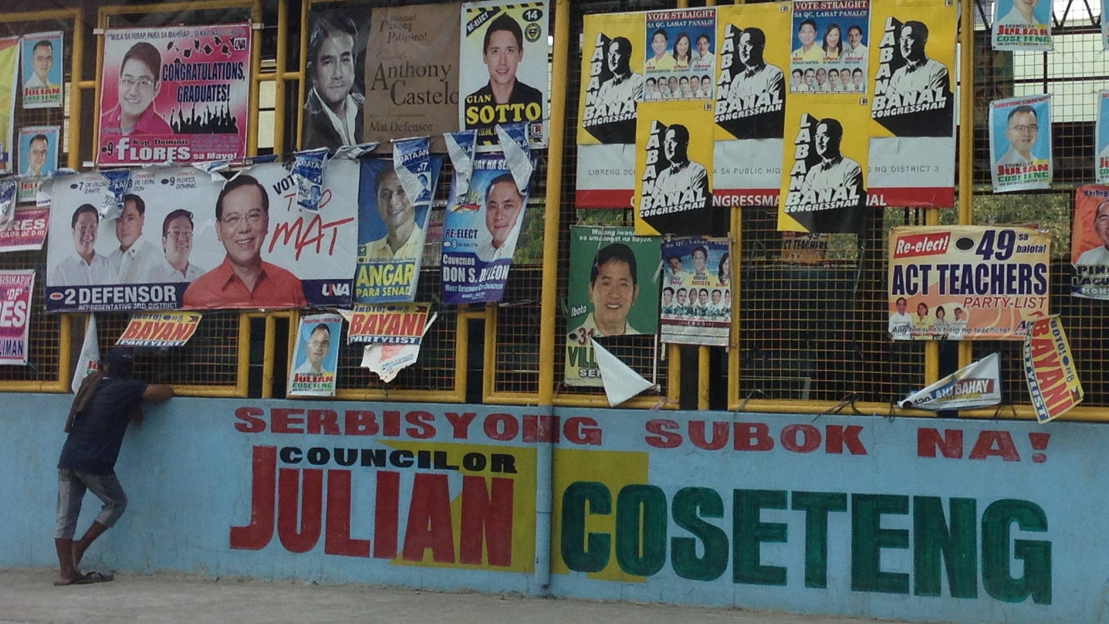 For some reason I took many photos of campaign posters during my trip to Baguio last week. For this blog entry I ended up using this one... from Quezon City.