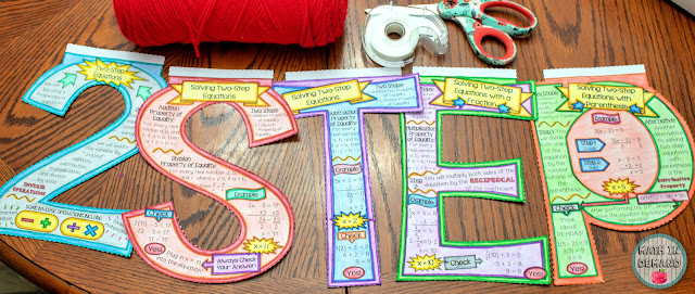 two-step equations math banner