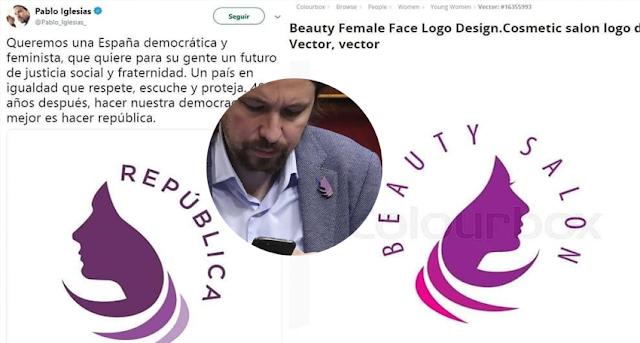 Metedura de pata de Podemos con el logo de la República