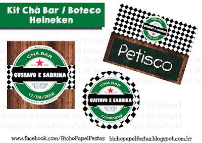 Kit Festa Boteco Chá Bar Heineken