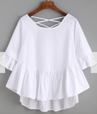White-Crisscross-Back-Ruffle-Top