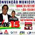 Convite para convenção municipal do PMDB em São Bernardo -MA