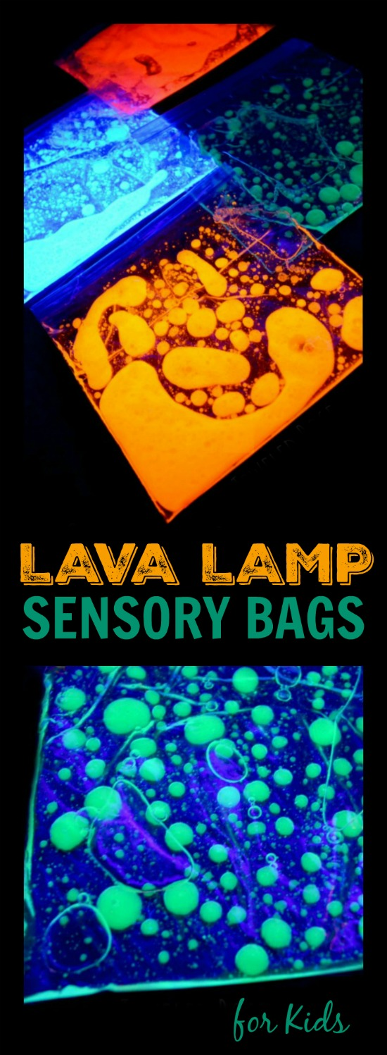 LAVA LAMP SENSORY BAGS- these are SO NEAT!  My whole family couldn't put them down!