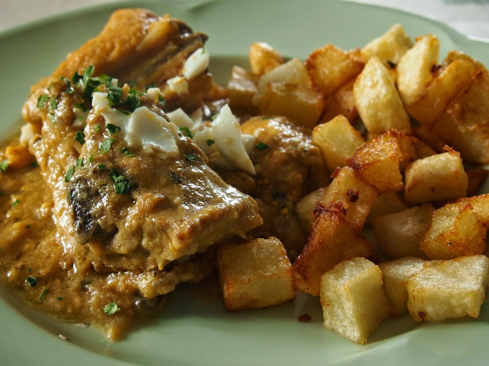 pollo en pepitoria de Mamalú