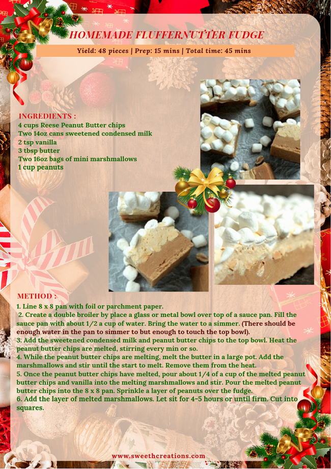 HOMEMADE FLUFFERNUTTER FUDGE RECIPE