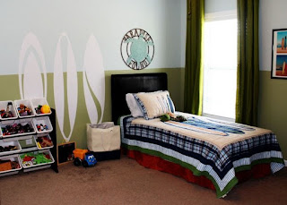dormitorio tema surf