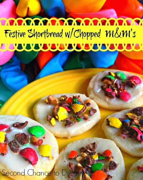 Second Chance to Dream Festive Shortbread Cookies with Chopped M&M's #bakingideas #shop #cbias