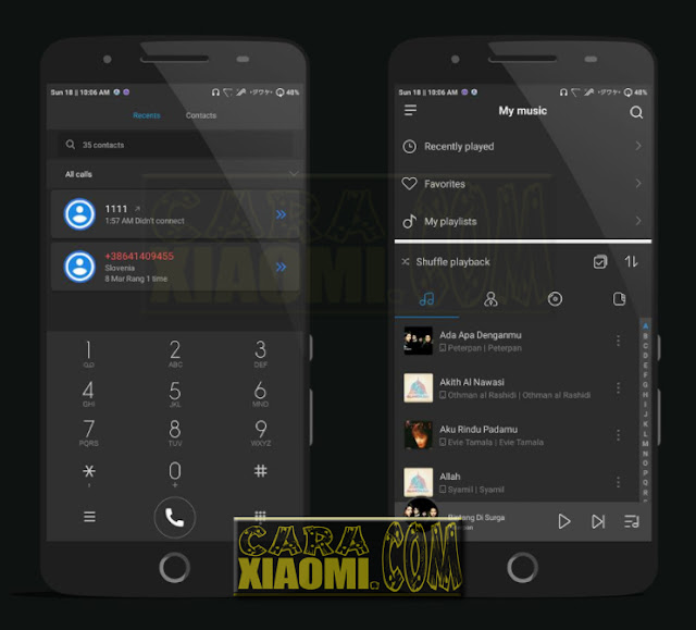 Download Link Xiaomi Theme Full Dark Flat Mtz Terbaru For MIUI