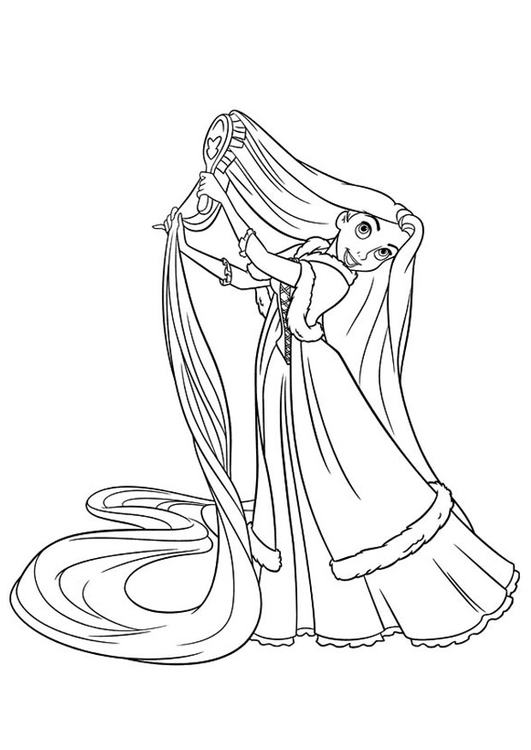 Nail Art Pedicure Rapunzel Tangled Coloring Pages Download