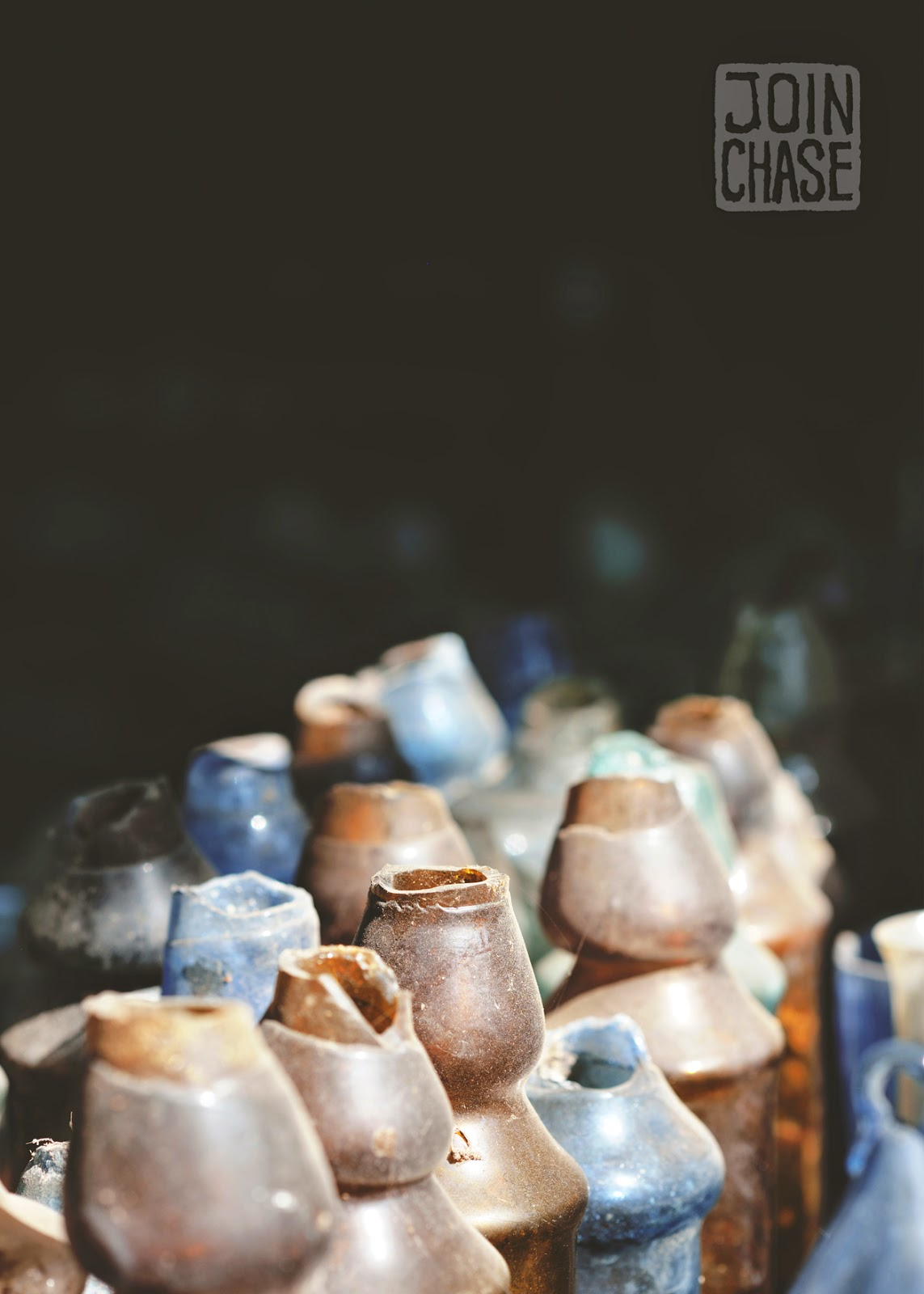 Old, broken glass bottles at Nagar Glass Factory on the outskirts of Yangon, Myanmar.