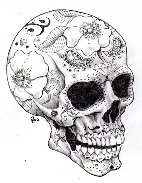 Sugar Skulls Coloring Pages  Printable Coloring Pages