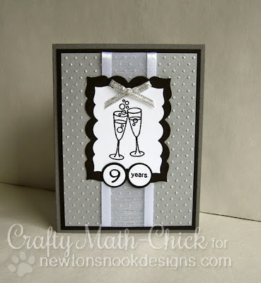 Anniversary card by Crafty Math Chick | Years for Cheers by Newton's Nook Designs