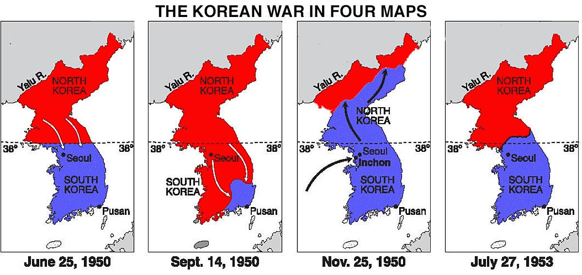 Northumbrian Gunner New York 2016 Battery Park Korean War Memorial - 38th Parallel Us Map