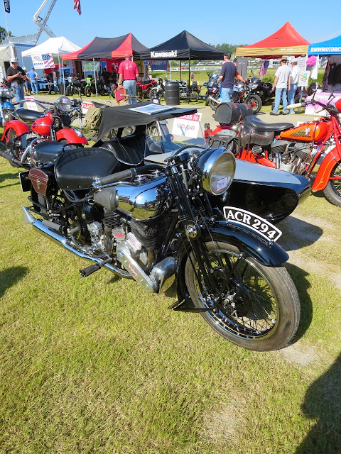 Brough Superior motorcycle with sidecar