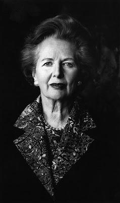 Margaret Thatcher, en blanco y negro