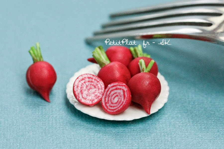 Chioggia Beet, Miniature Food Art, Veggies and Fruit by Stephanie Kilgast