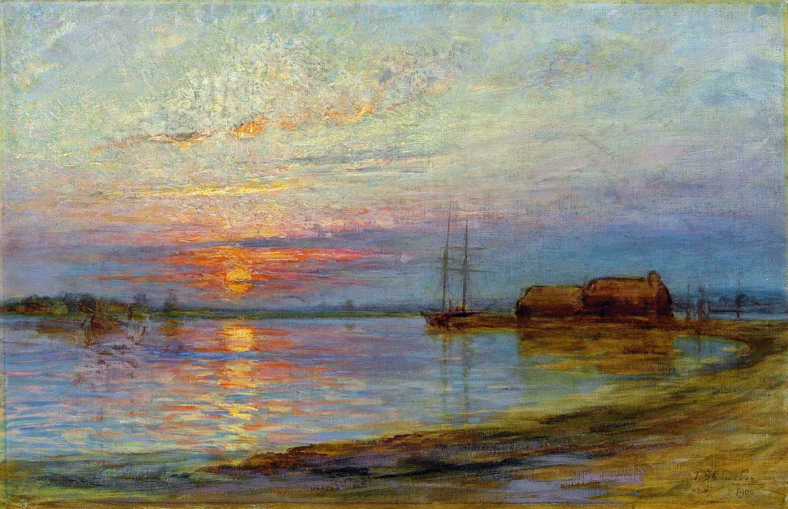 Sunset Ford St Louis >> Victorian British Painting: Landscapes