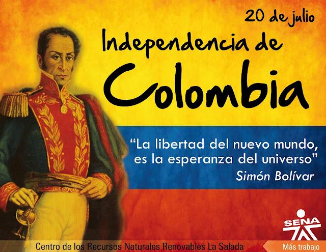Resultat d'imatges de dia de la independencia de colombia simon bolivar