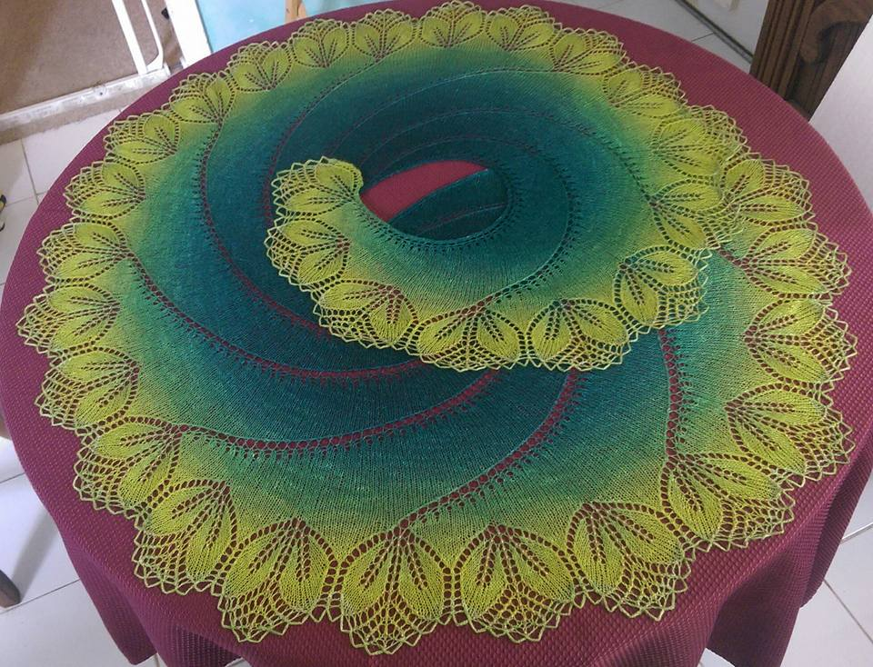 OceanKnitter: Bigger Begonia Swirl