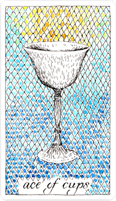 Ace of Cups Wild UnknownTarot Kim Krans Blog blogger