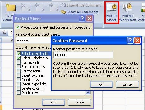 Cara Proteksi Sheet Pada Ms.Office Excel