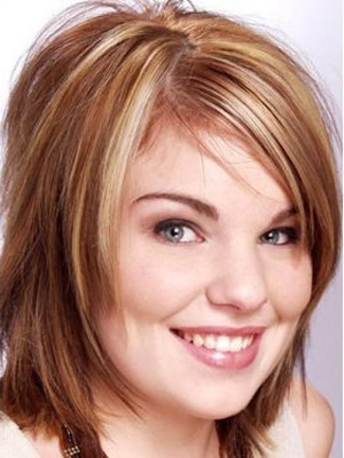 Wondrous Medium Hairstyles For Round Faces Latest Hairstyles Short Hairstyles Gunalazisus