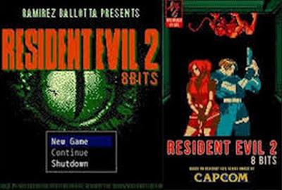 Jogo Resident Evil 2 RPG 8 Bits PC DVD Capa