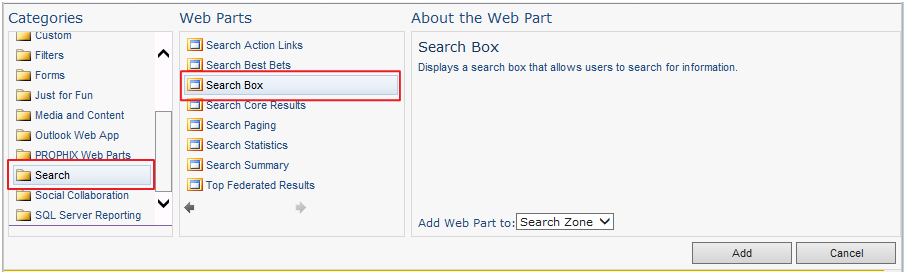Clever use of the Search Box web part in SharePoint 2010