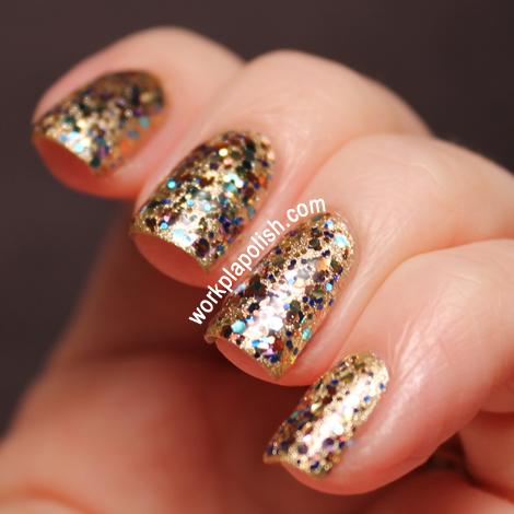 Sally Hansen Xtreme Wear Golden-I and Models Own Ibiza Mix