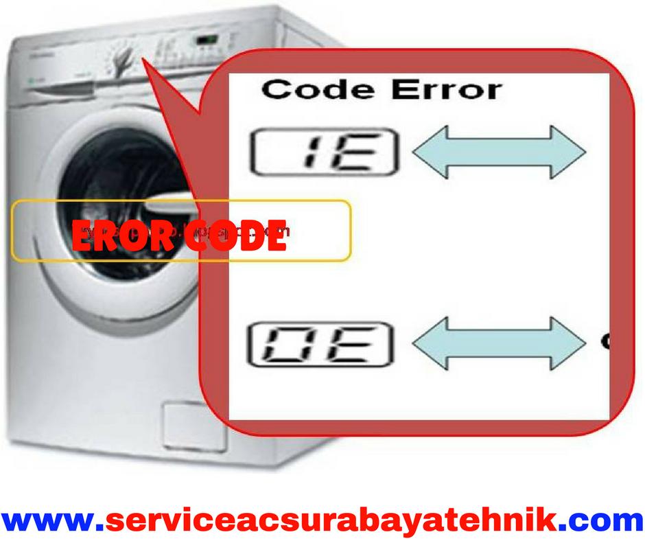 code error pada mesin cuci dan cara
