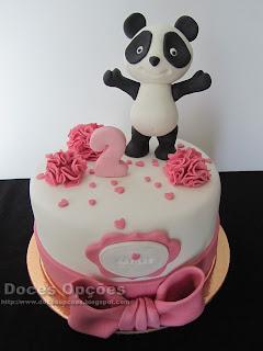 Bolo com o Panda para o 2º aniversário da Matilde