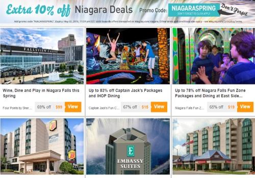 Wagjag 10% Off Niagara Falls Deals Promo Code