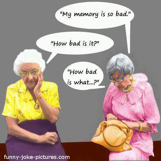 Funny Old Women Memory Joke Image