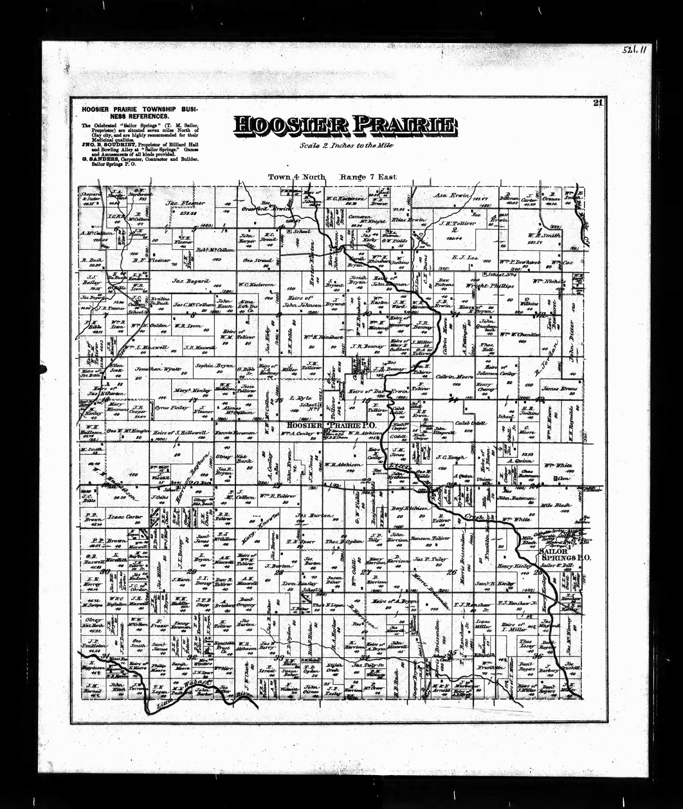 Climbing my Family Tree: Hoosier Prairie, U.S. Indexed County Land Ownership map, 1860-1918