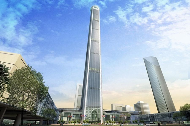 Rendering of Tianjin 117 Tower (Goldin Finance 117) by P&T Group