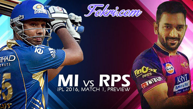 Mumbai Indians vs Rising Pune Supergiants Cricket Match Preview