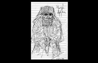 Ο μοναχός Αγιορείτης. (Dessins). Σκίτσο   Αγίου Παϊσίου δια χειρός Ν. Λυγερού