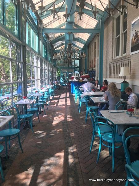 interior of Ocho restaurant at Hotel Havana in San Antonio, Texas