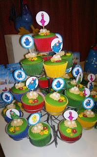 Cupcakes Gallina Pintadita