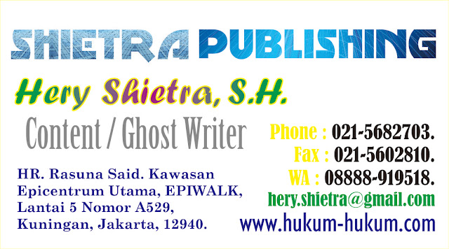 Content / Ghost Writer HERY SHIETRA