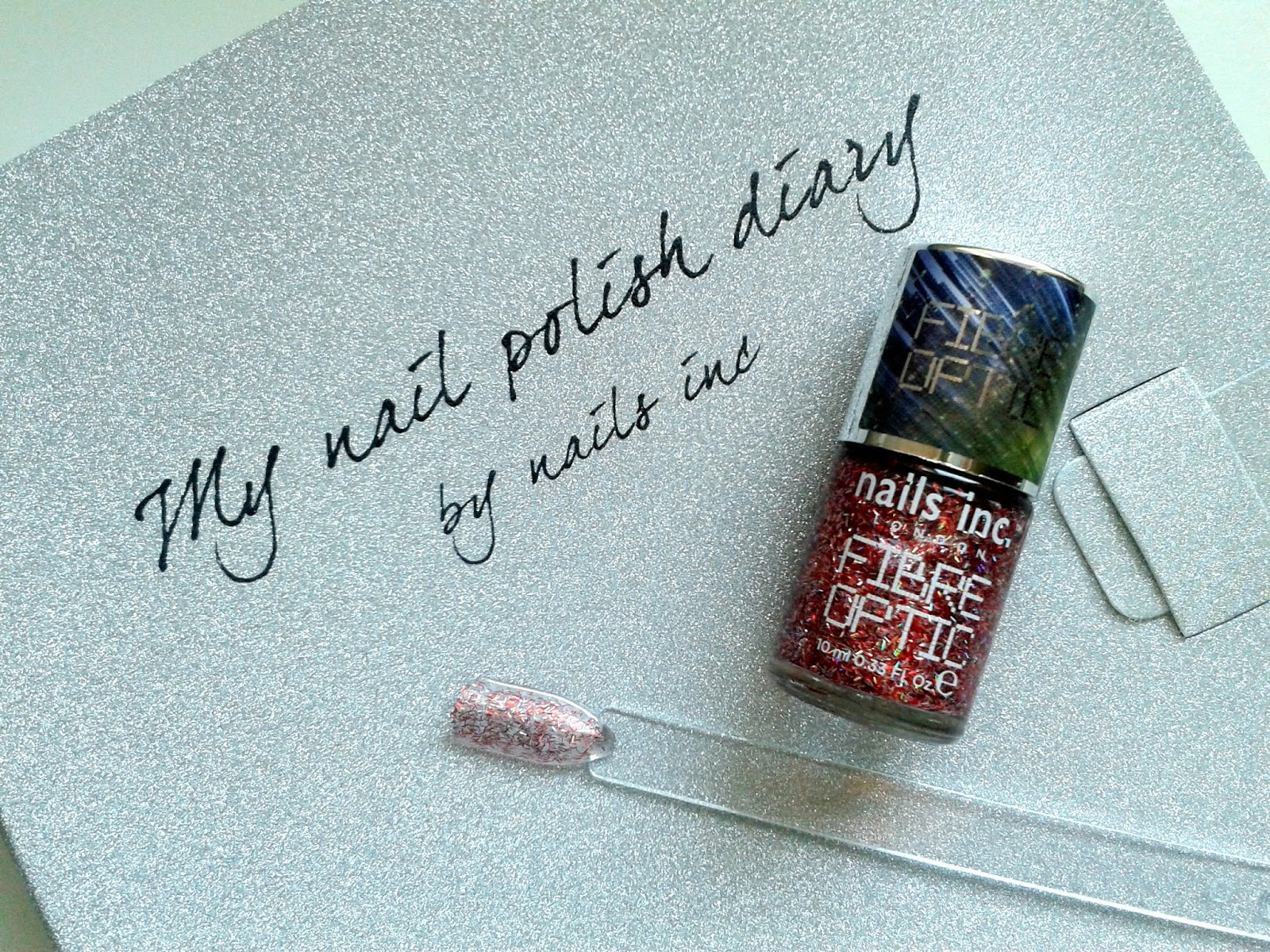Nails Inc Nail Polish Diary: October Beauty Review Belgravia Place Fibre Optic Polish