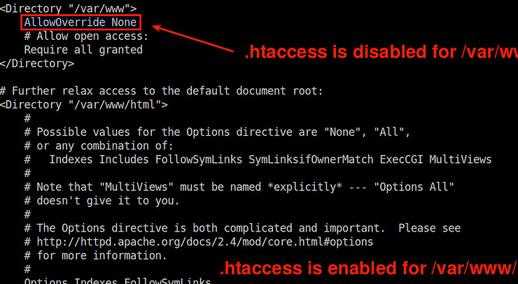 htaccess file