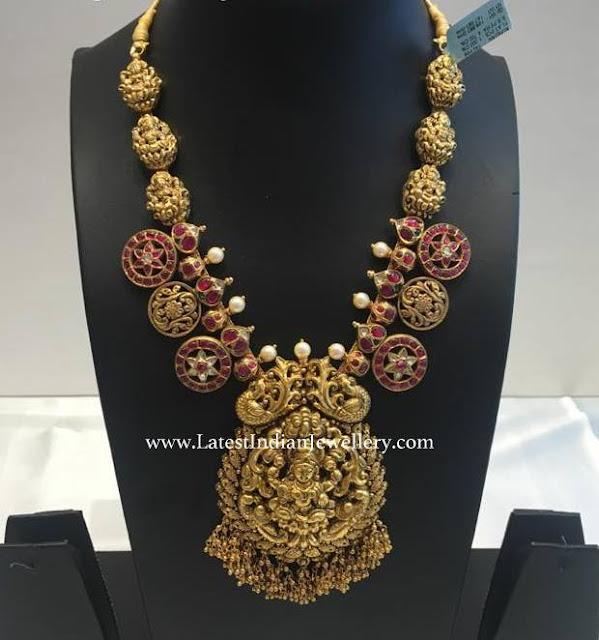 Ruby Coins Lakshmi Necklace
