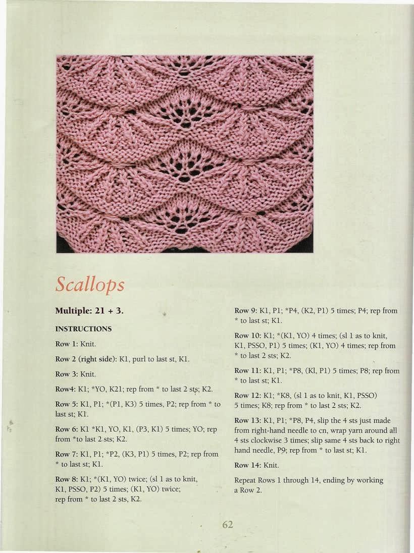 Ponto de Tricô 48 - 50 Fabulous Knit Stitches