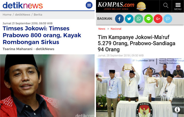 Ejek Timses Prabowo-Sandi, Sekjen PSI Ketabok Fakta 5.279 Anggota Tim Kampanye Jokowi