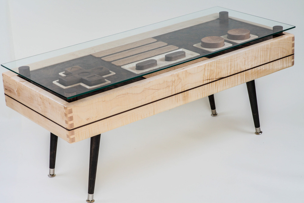 The Tables, Which Can Actually Function As Your Game Controller, Come In  Two Versions. A Beautiful Handcrafted Version In Maple, Mahogany And Walnut  With ...